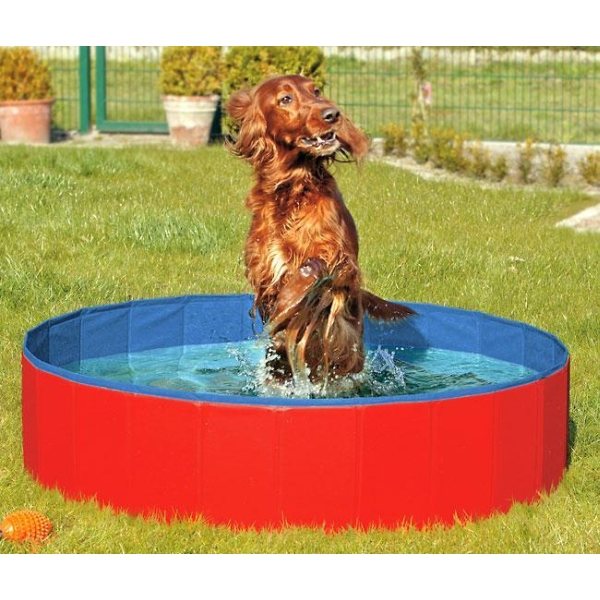 tierkosmos karlie doggy pool der swimmingpool f r hunde rot blau 160 cm. Black Bedroom Furniture Sets. Home Design Ideas